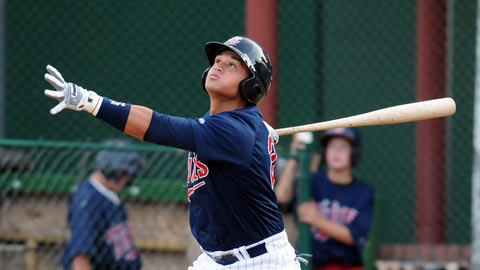Oswaldo Arcia leads the league in each Triple Crown category.