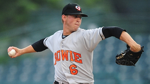 Oliver Drake has held Altoona to three hits over 12 innings in two starts.